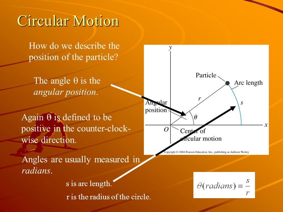 Circular Motion How do we describe the position of the particle