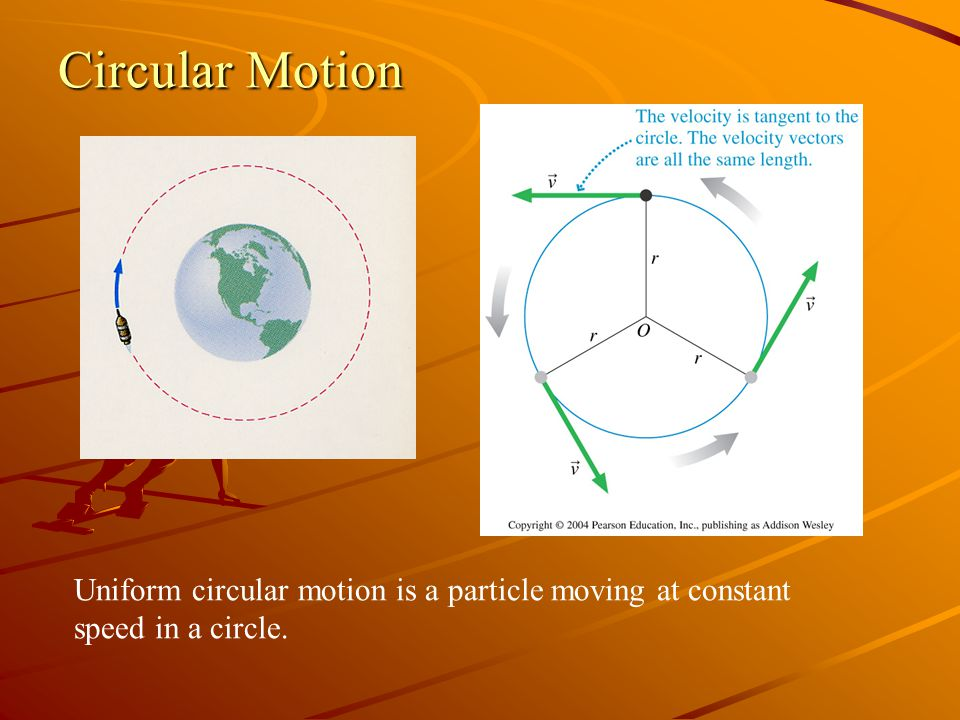 Circular Motion Uniform circular motion is a particle moving at constant speed in a circle.