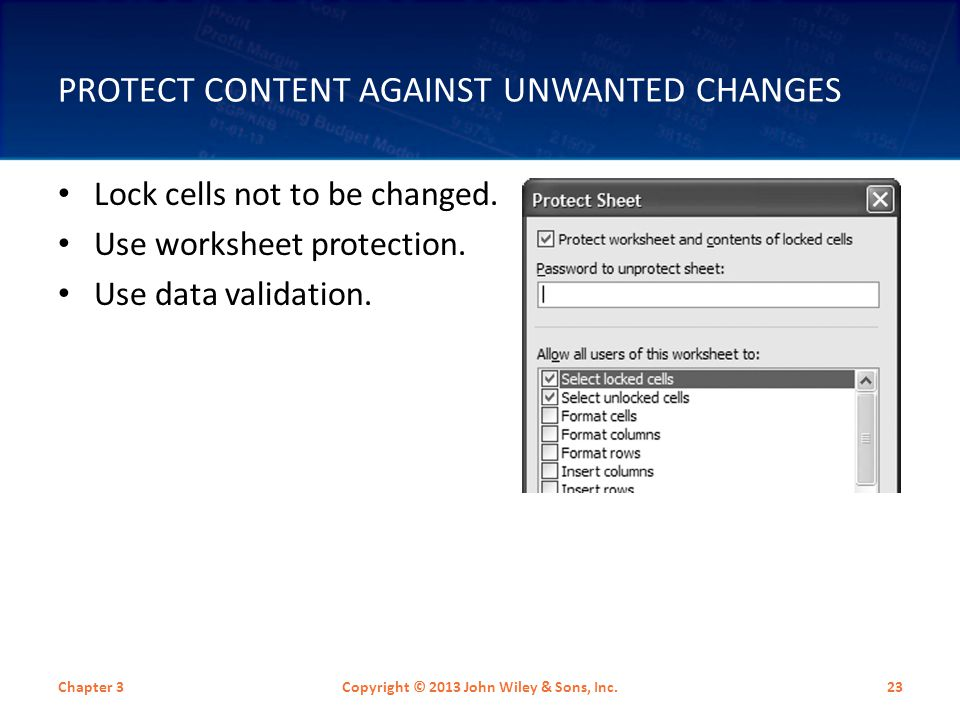 Protect Content Against Unwanted Changes