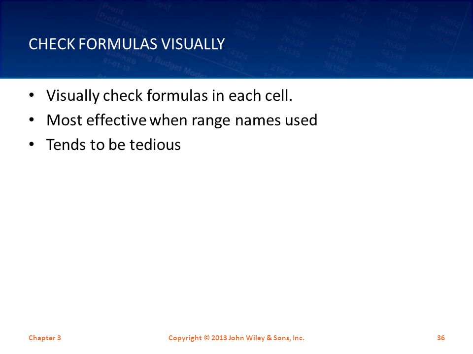 Check Formulas Visually