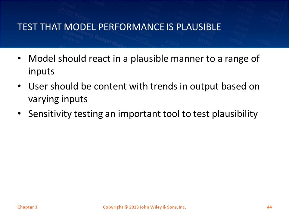 Test That Model Performance Is Plausible