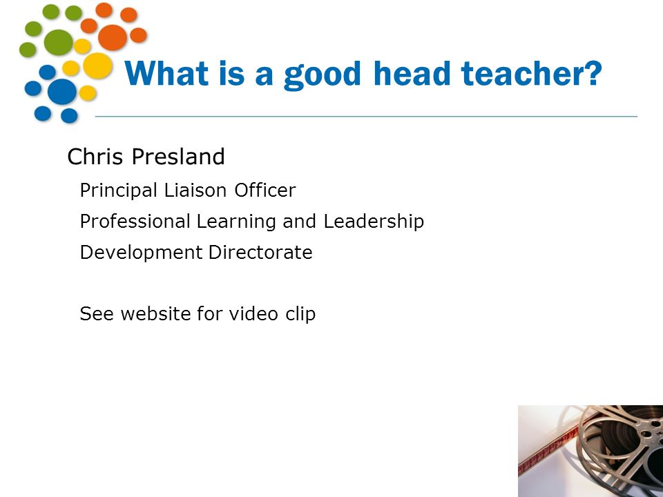 What is a good head teacher