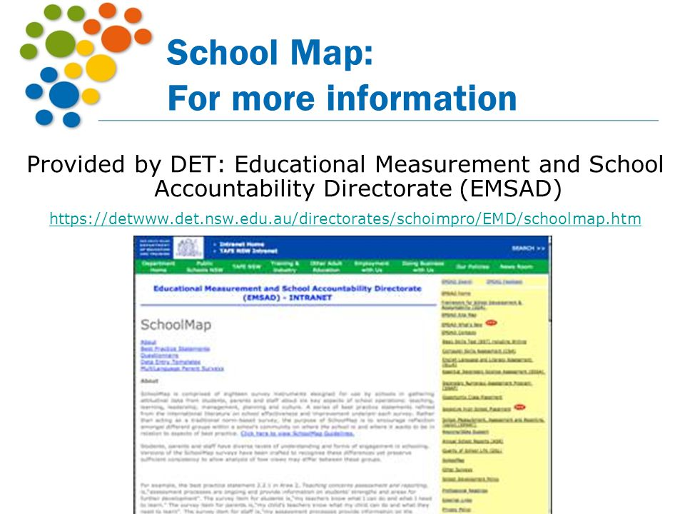School Map: For more information