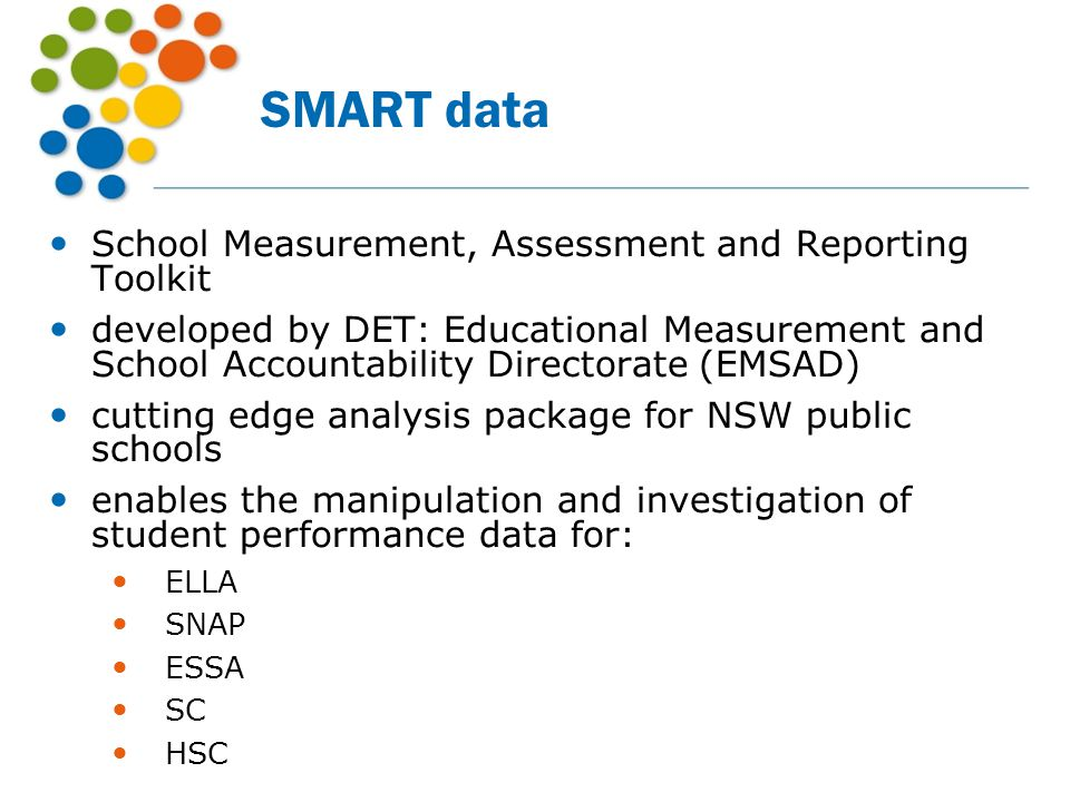 SMART data School Measurement, Assessment and Reporting Toolkit