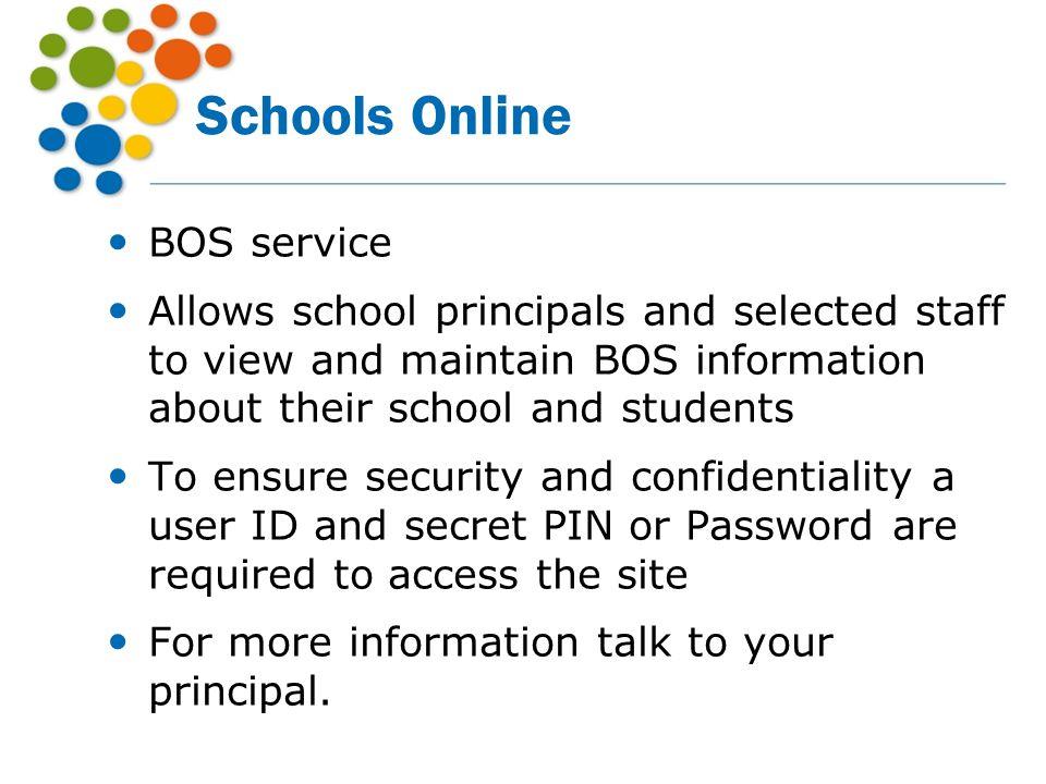 Schools Online BOS service