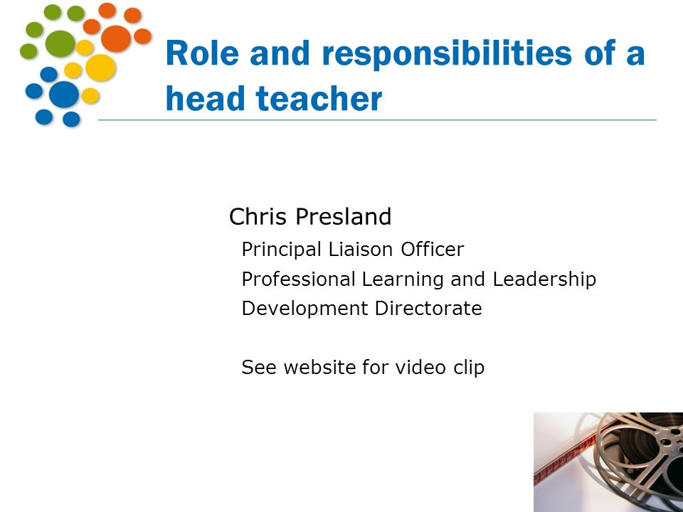 Role and responsibilities of a head teacher