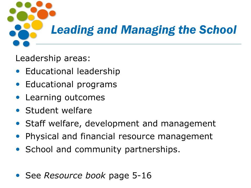 Leading and Managing the School