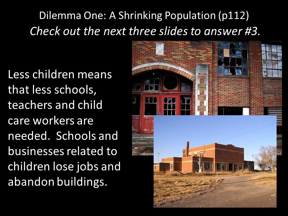Dilemma One: A Shrinking Population (p112)