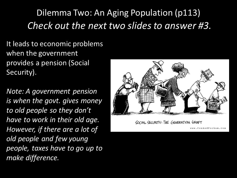Dilemma Two: An Aging Population (p113)