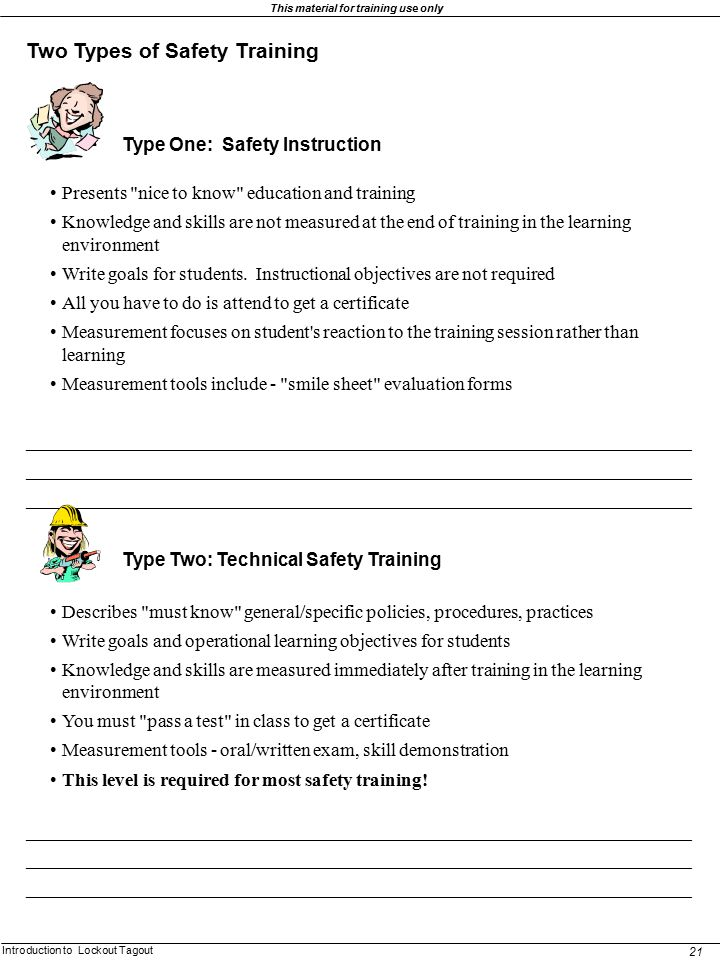 Two Types of Safety Training