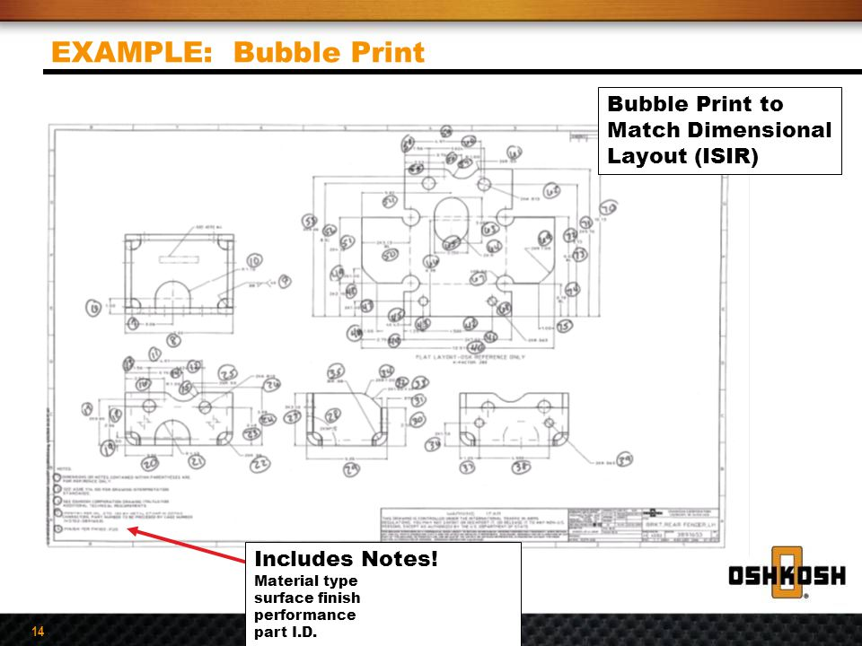 EXAMPLE: Bubble Print Bubble Print to Match Dimensional Layout (ISIR)