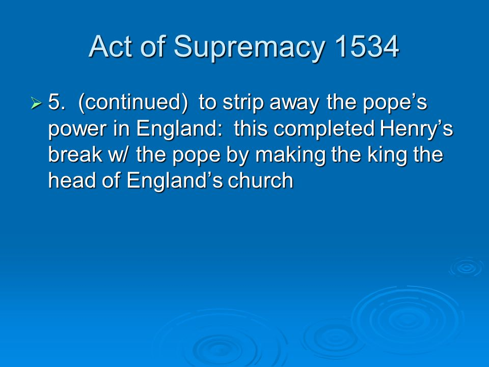 Act of Supremacy 1534
