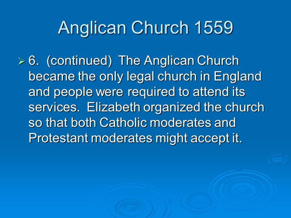 Anglican Church 1559