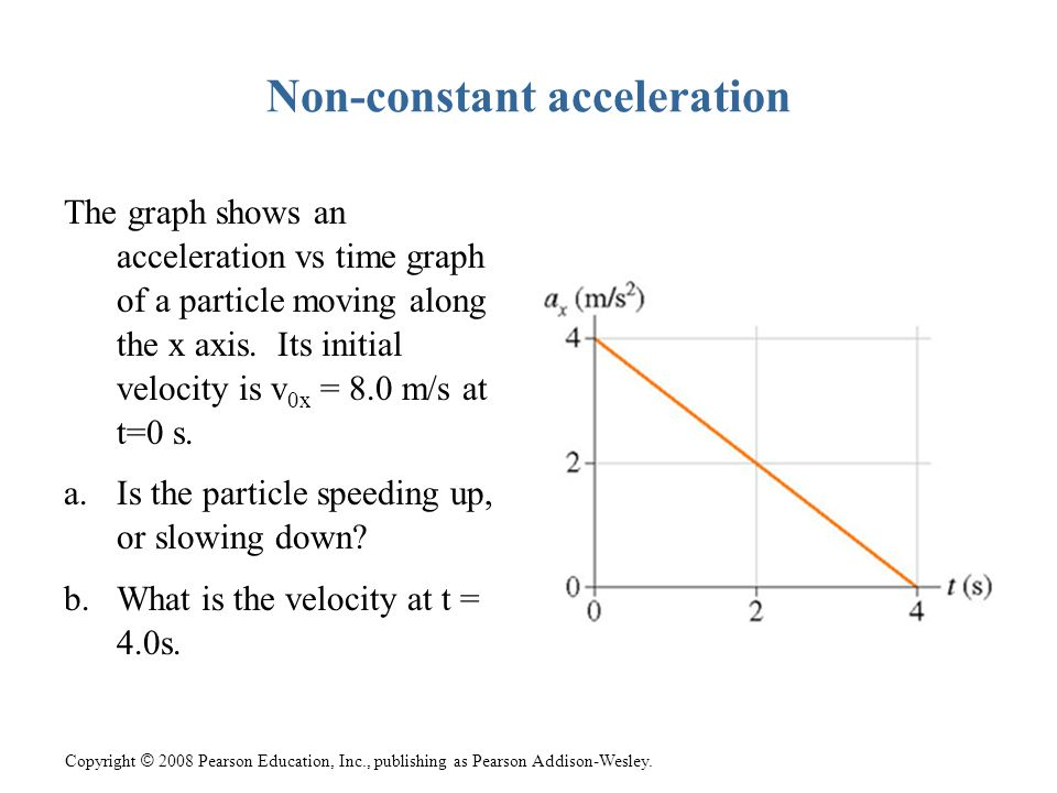 Non-constant acceleration