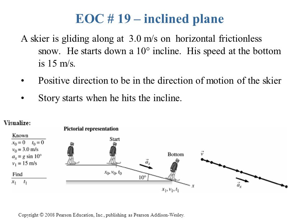 EOC # 19 – inclined plane