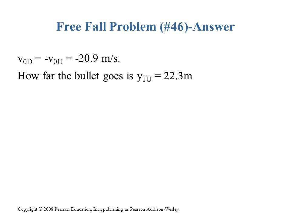 Free Fall Problem (#46)-Answer