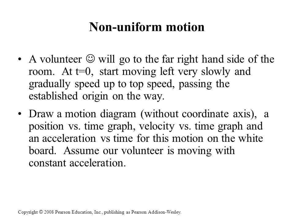 Non-uniform motion