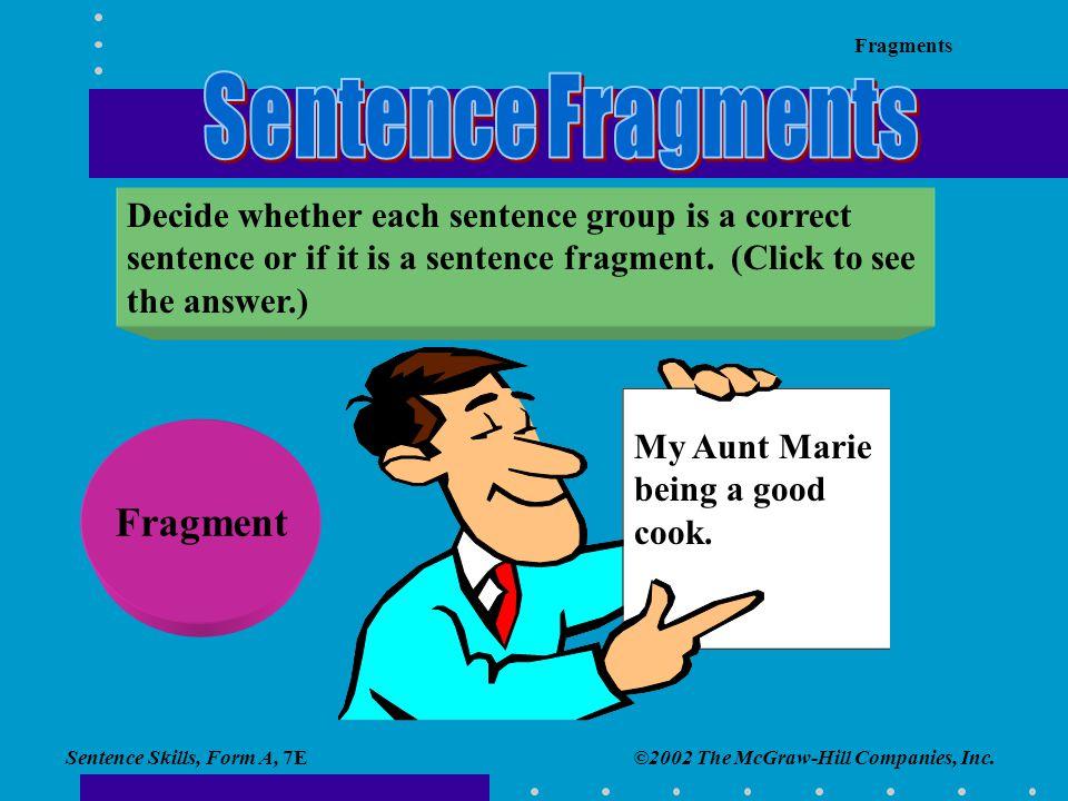 Sentence Fragments Fragment