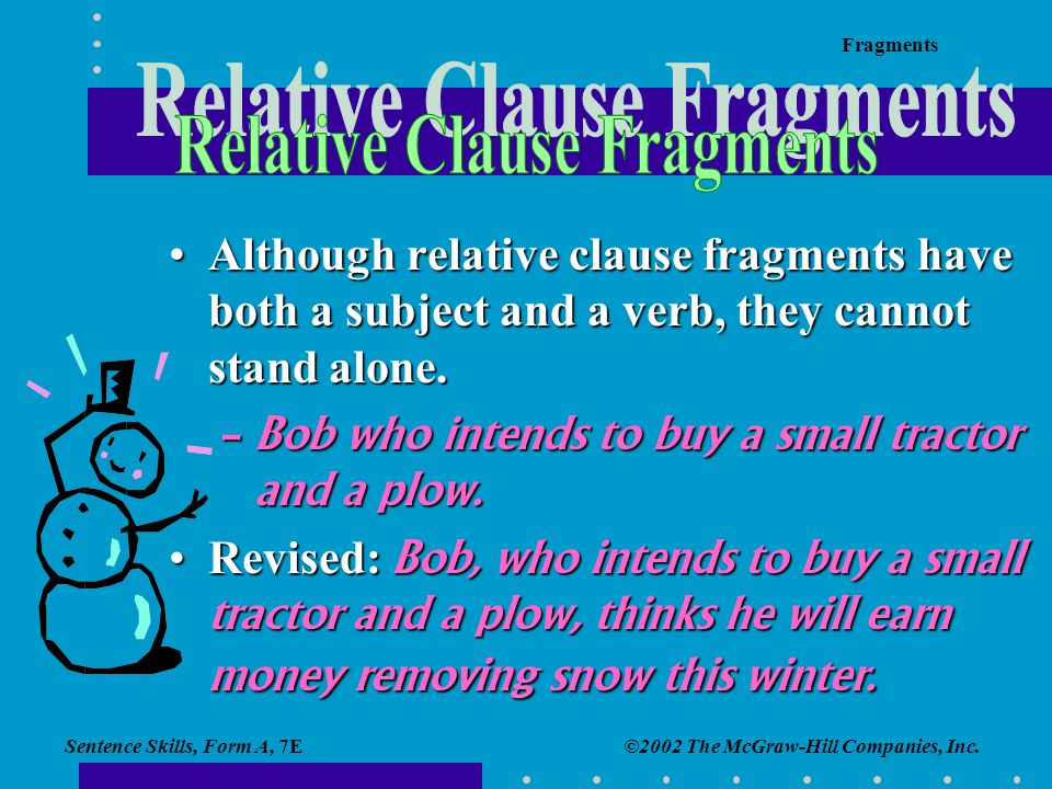 Relative Clause Fragments