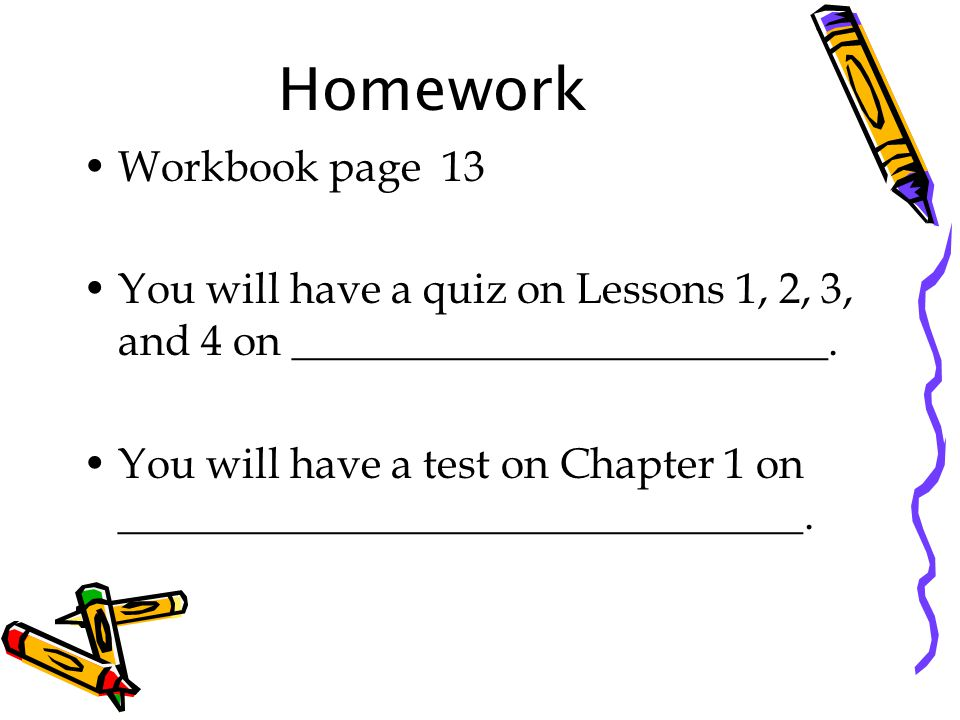 Homework Workbook page 13