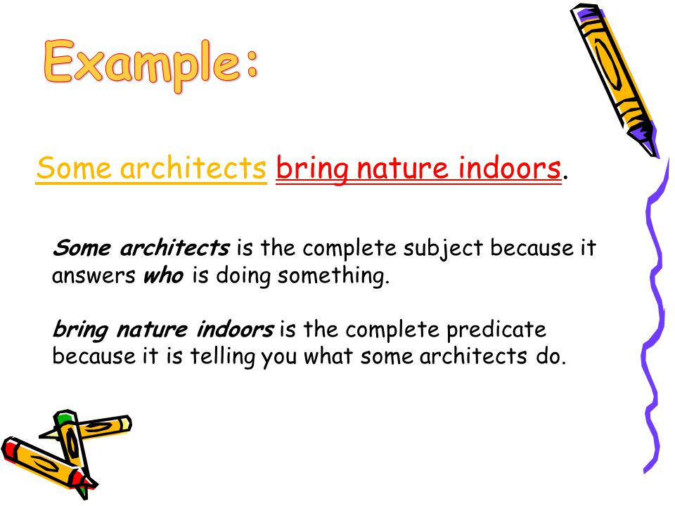 Example: Some architects bring nature indoors.