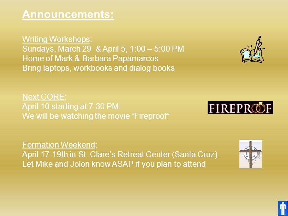 Announcements: Writing Workshops: