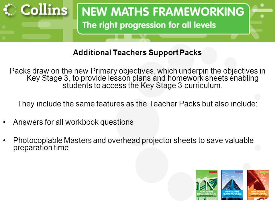 Additional Teachers Support Packs