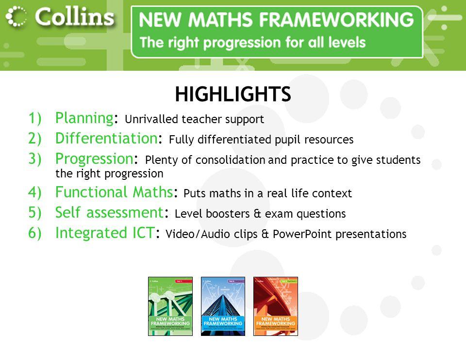 HIGHLIGHTS Planning: Unrivalled teacher support