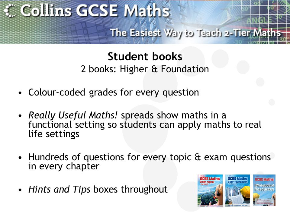 2 books: Higher & Foundation