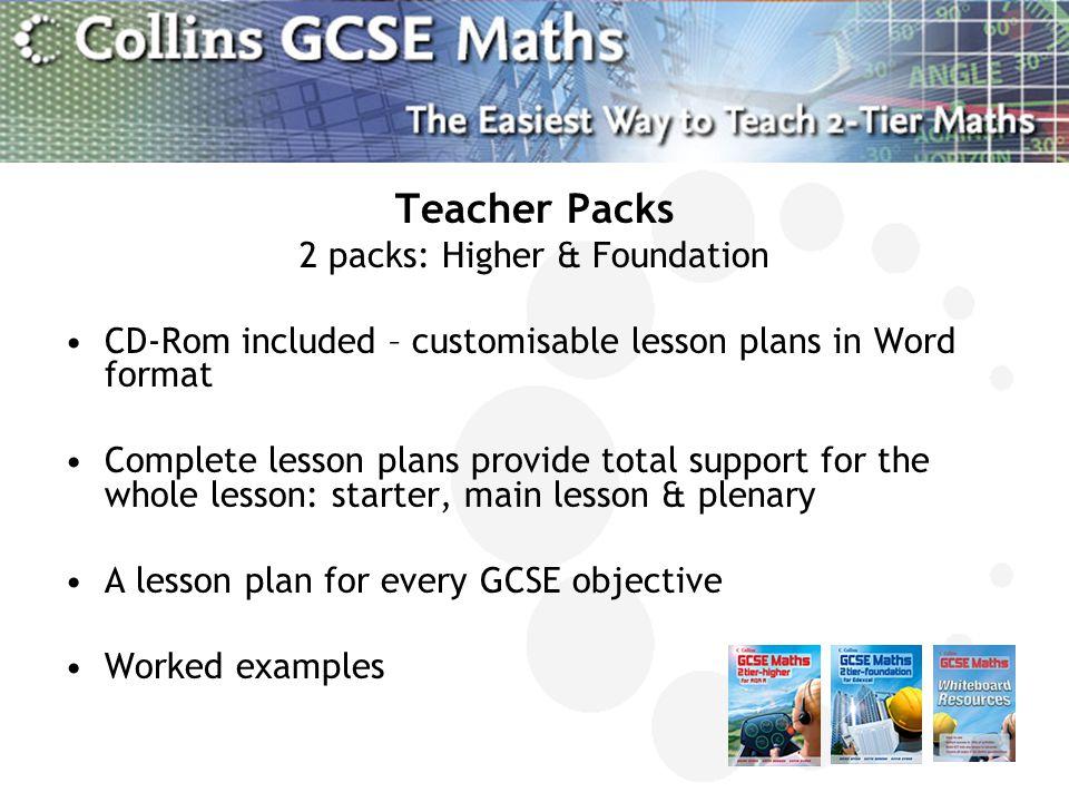 2 packs: Higher & Foundation