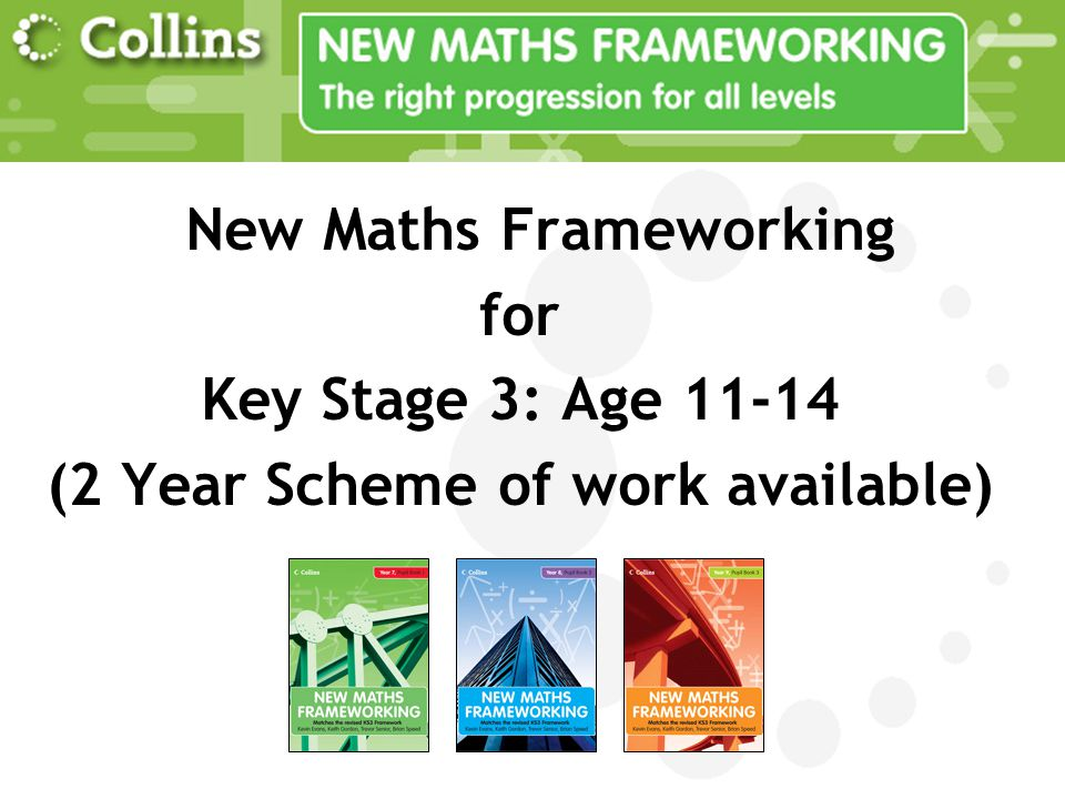 New Maths Frameworking (2 Year Scheme of work available)