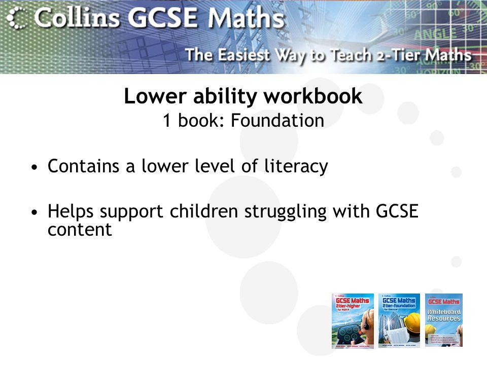 Lower ability workbook