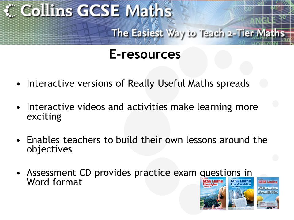 E-resources Interactive versions of Really Useful Maths spreads