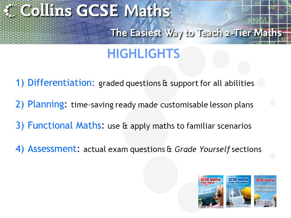 HIGHLIGHTS Differentiation: graded questions & support for all abilities. Planning: time-saving ready made customisable lesson plans.