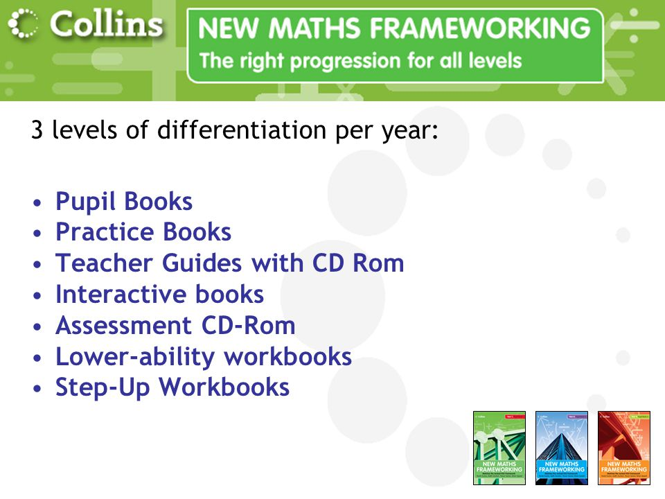 3 levels of differentiation per year:
