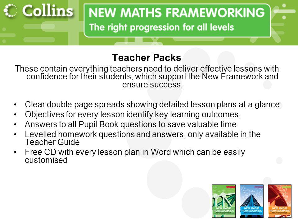 Teacher Packs