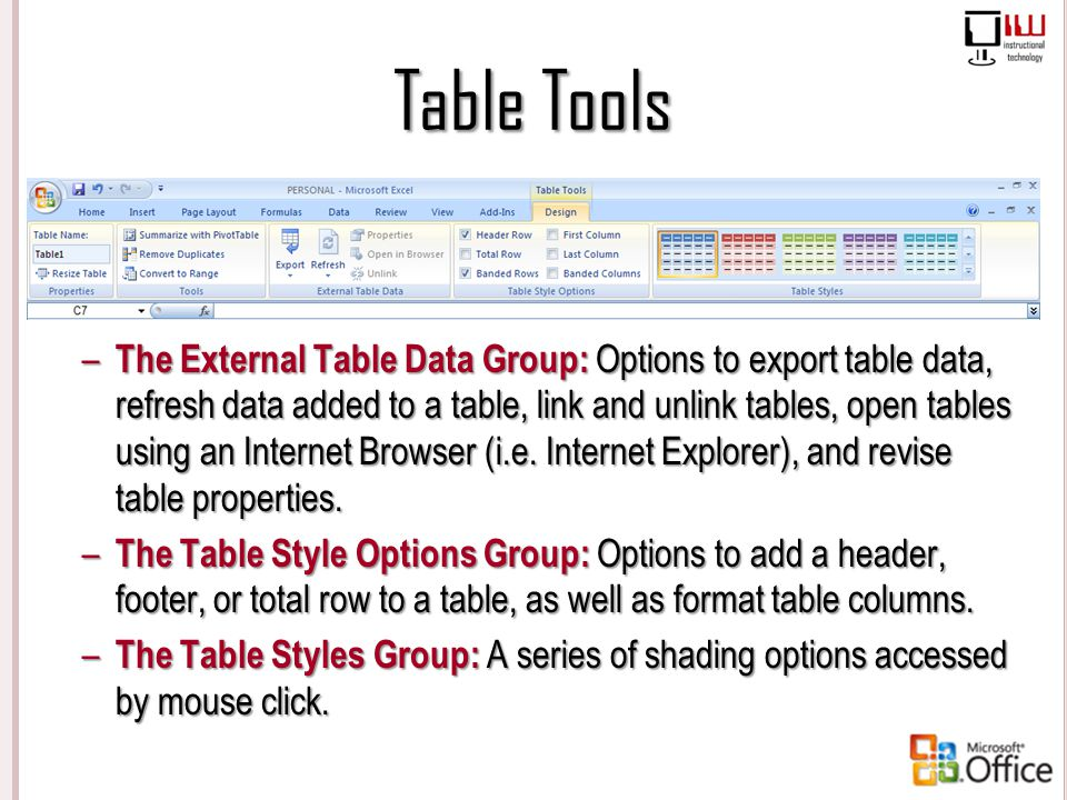 Table Tools