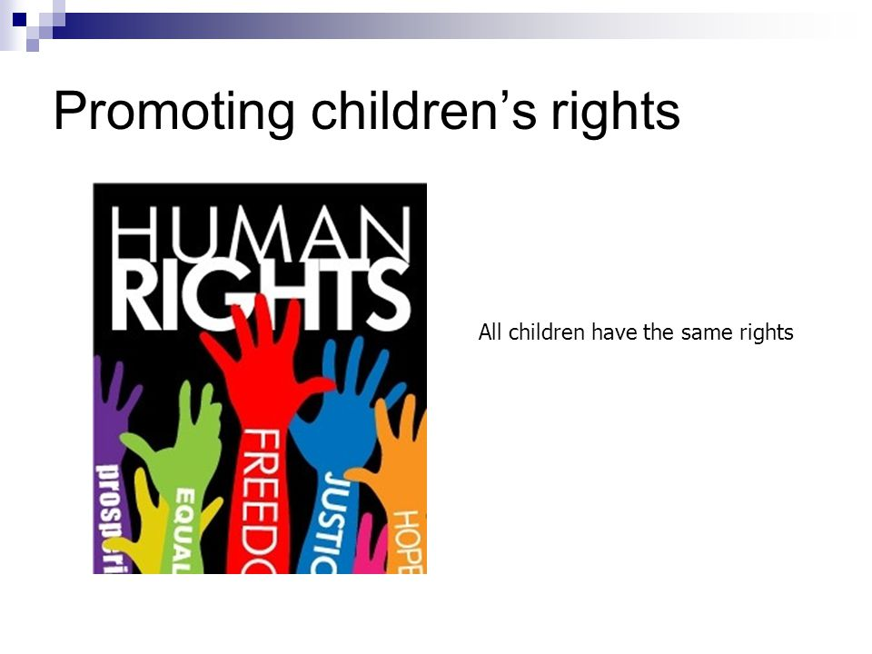 Promoting children's rights