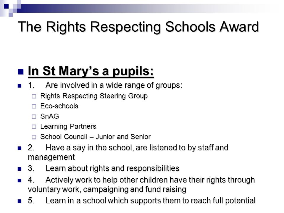 The Rights Respecting Schools Award