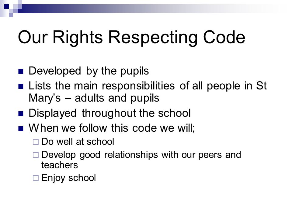 Our Rights Respecting Code