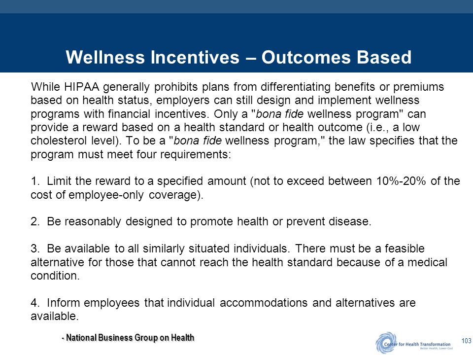 Wellness Incentives – Participation Based