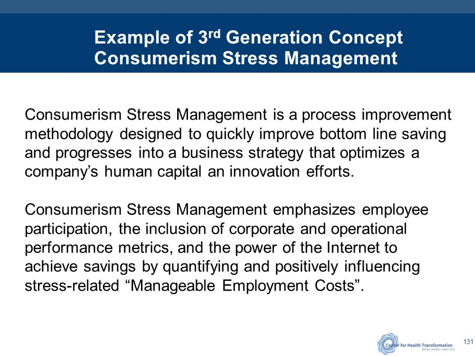 3rd Generation – Stress Management and Corporate Impact