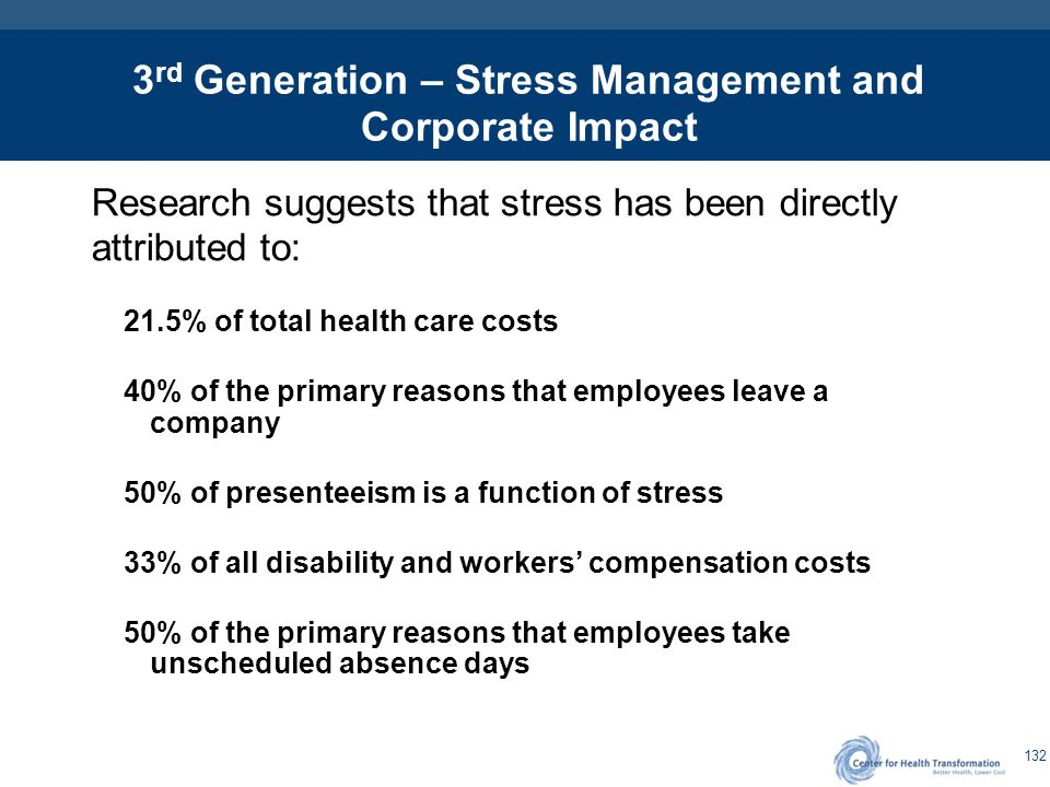 Related / Imbedded Health Costs From Stress