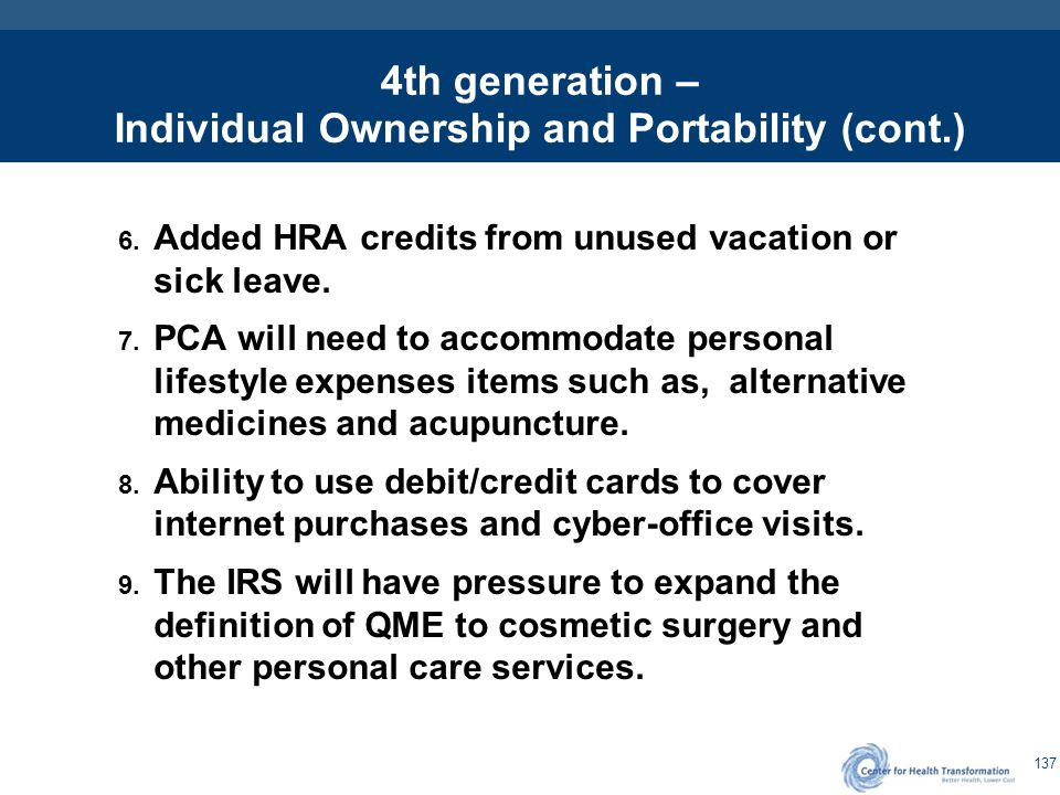 4th Generation – Personalized Health and Healthcare