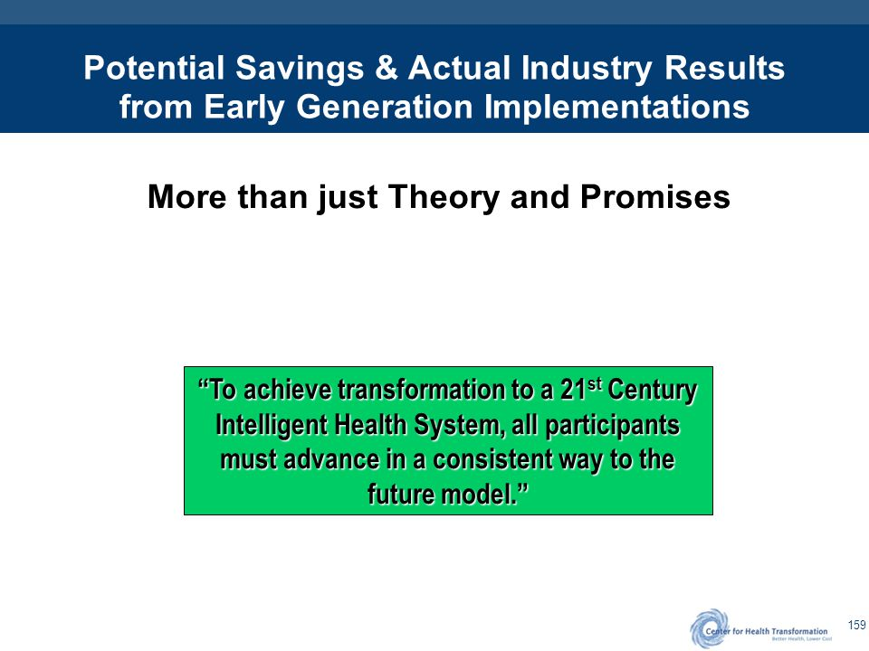 The Value Proposition 5-8% Savings over 5 years with 2% lower trends