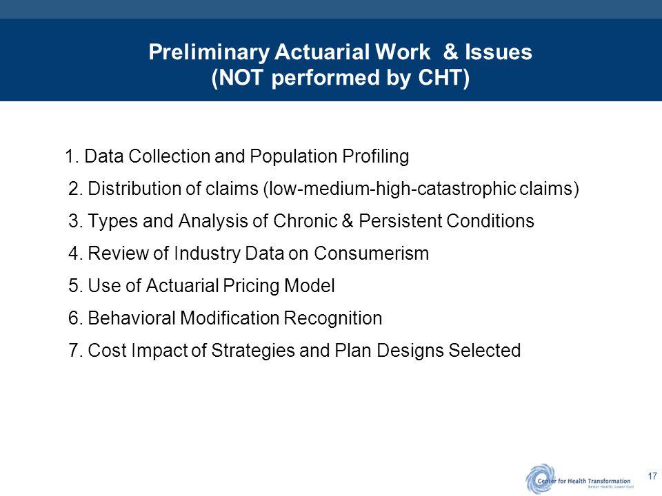Purpose of Actuarial Work