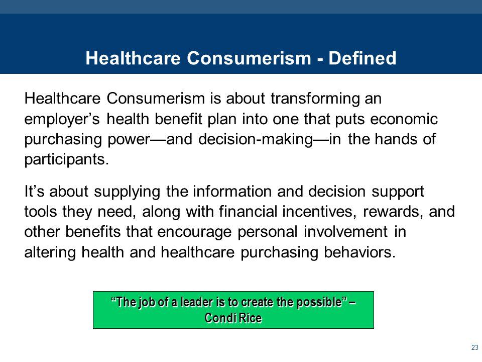 Consumerism – Saving Lives & Saving Money