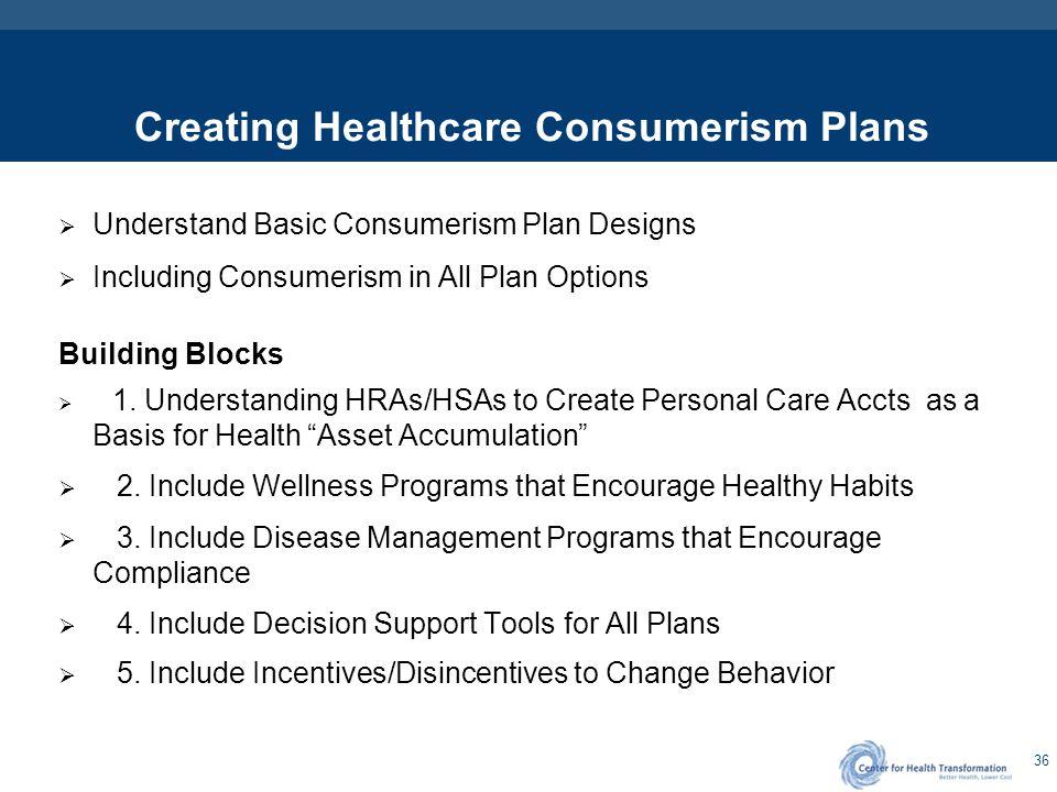 Basic Plan Design Options & Healthcare Consumerism