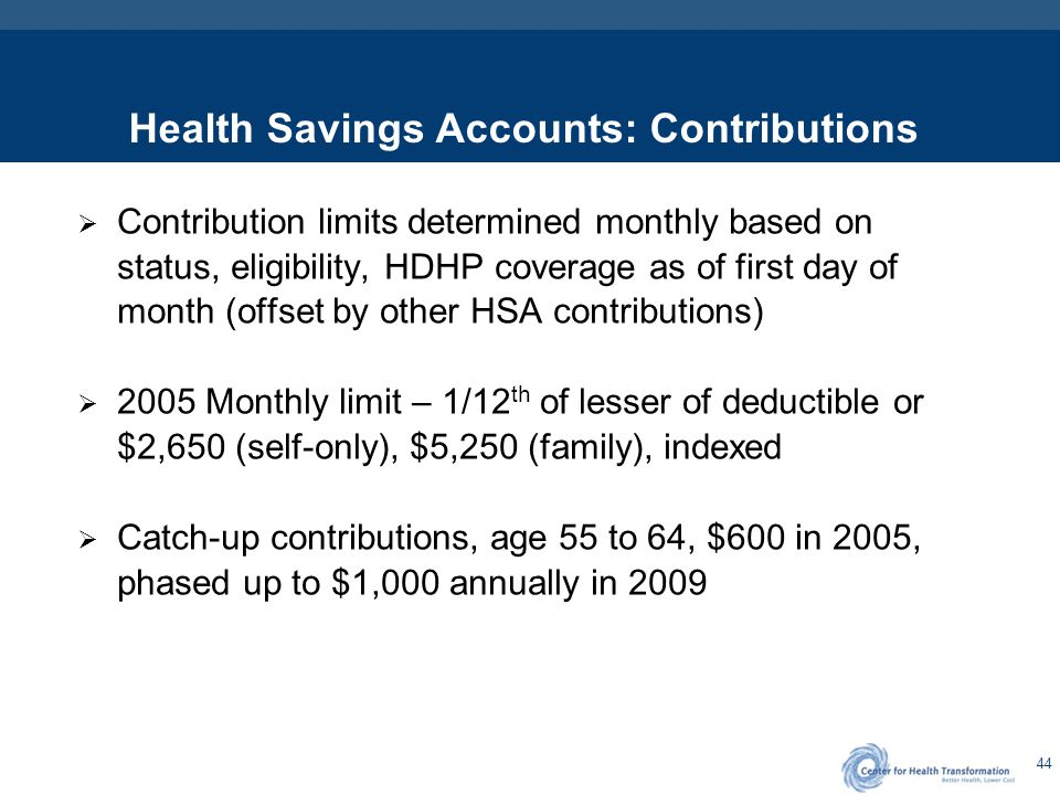 HSAs – Real Dollars, Portable, Vested