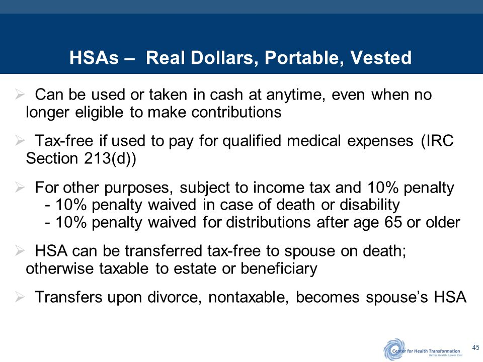 HSA Eligible HDHP High Deductible Health Plan – By Law